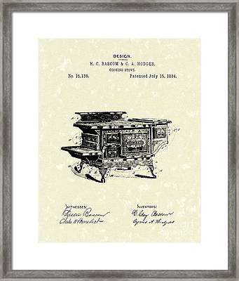 Cooking Stove 1884 Patent Art Framed Print by Prior Art Design