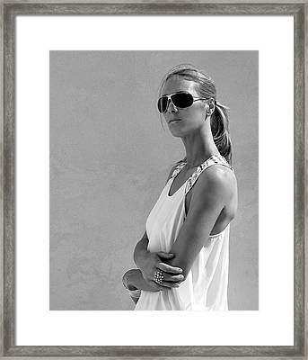 Cool Catherine Palm Springs Framed Print by William Dey
