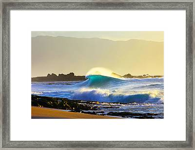 Cool Curl Framed Print by Sean Davey