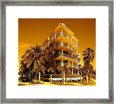 Cool Iron Building In Miami Framed Print by Monique Wegmueller