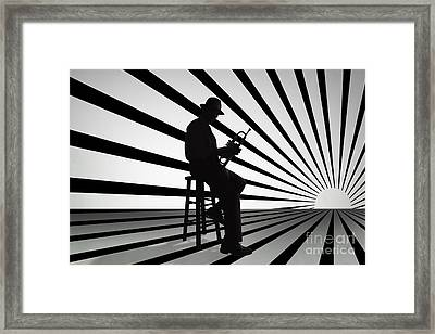 Cool Jazz 2 Framed Print by Bedros Awak