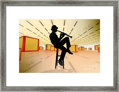Cool Jazz 3 Framed Print by Bedros Awak