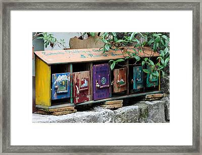 Cool Letter Boxes Framed Print by Catherine Arnas