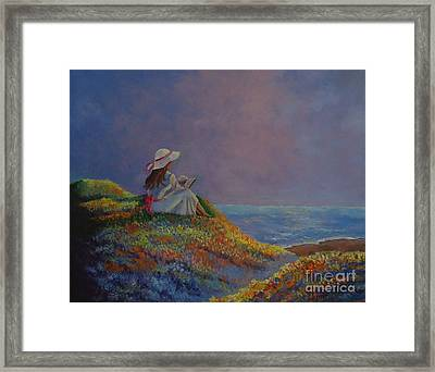 Cool Summer Day Framed Print by Louise Williams
