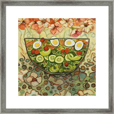 Cool Summer Salad Framed Print by Jen Norton