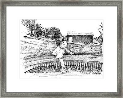 Cool Water Framed Print by Arthur Fix