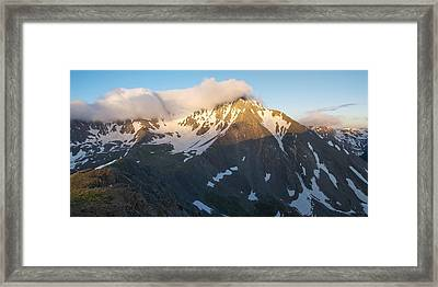 Cool Whip - Mountain Sunrise Framed Print by Aaron Spong