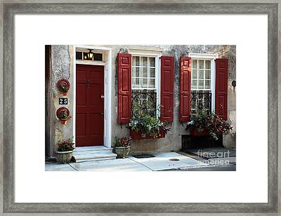 Coordinated In Charleston Framed Print by John Rizzuto