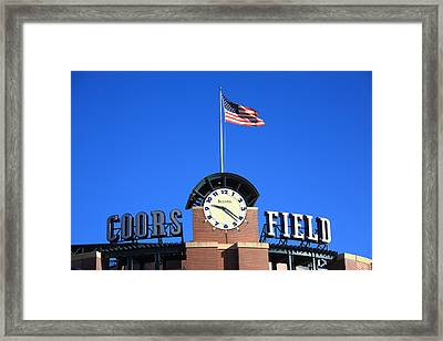 Coors Field - Colorado Rockies Framed Print by Frank Romeo
