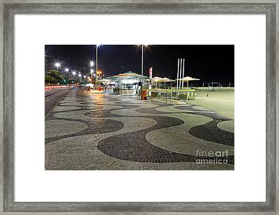 Copacabana At Night  Framed Print by George Oze