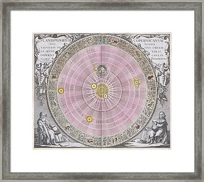 Copernican Planisphere, 1708 Framed Print by Science Photo Library