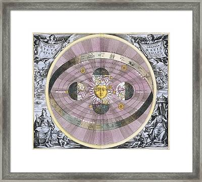 Copernican Worldview, 1708 Framed Print by Science Photo Library