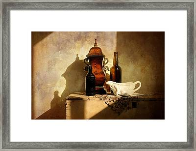 Copper Canister Framed Print by Diana Angstadt