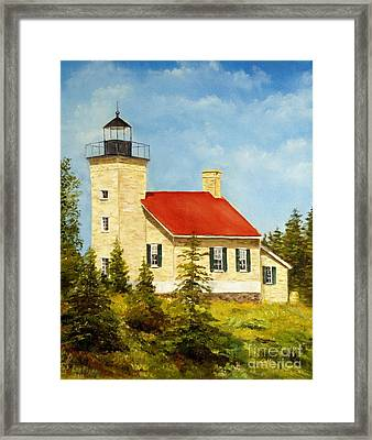 Copper Harbor Lighthouse Framed Print by Lee Piper