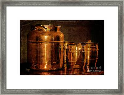 Copper Framed Print by Lois Bryan