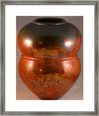 Copper Penny Gloss 2 Framed Print by Chris Tennis