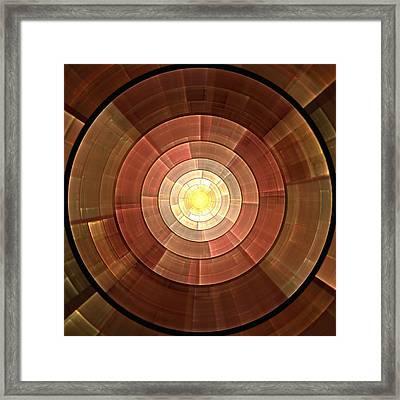 Copper Shield Framed Print by Anastasiya Malakhova
