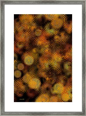 Copper Spirals Abstract Framed Print by Christina Rollo