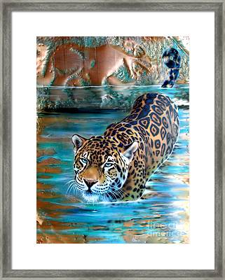 Copper - Temple Of The Jaguar Framed Print by Sandi Baker