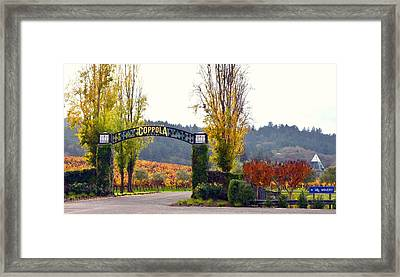 Coppola Winery Sold Framed Print by Antonia Citrino