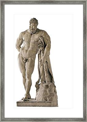 Copy From Lisippo, The Farnese Hercules Framed Print by Everett