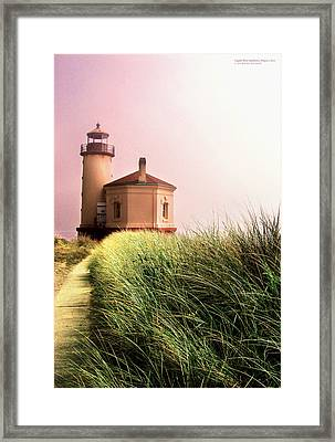 Coquille River Lighthouse Oregon Framed Print by Rafael Escalios