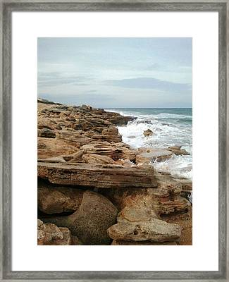 Coquina Style Framed Print by Julie Wilcox
