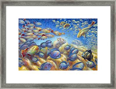 Coral Reef Life Framed Print by Nancy Tilles