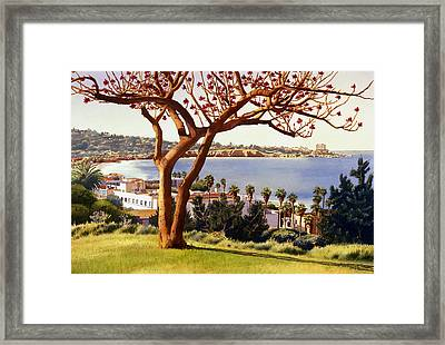 Coral Tree With La Jolla Shores Framed Print by Mary Helmreich
