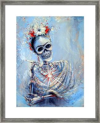 Corazon De Frida Framed Print by Heather Calderon