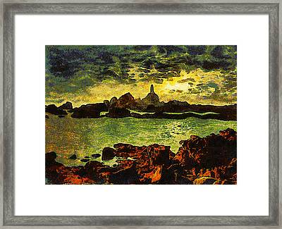 Corbiere Lighthouse Framed Print by Unknown