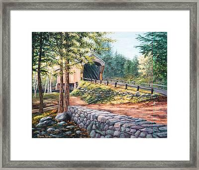 Corbin Covered Bridge Framed Print by Elaine Farmer