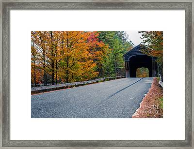 Corbin Covered Bridge New Hampshire Framed Print by Edward Fielding