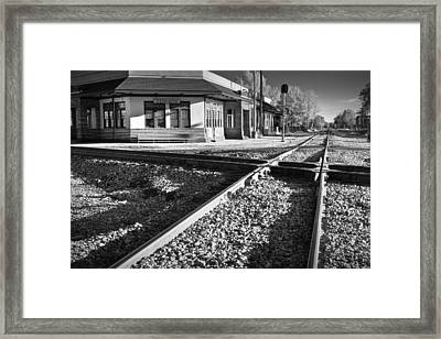 Corinth Station Framed Print by Harry H Hicklin