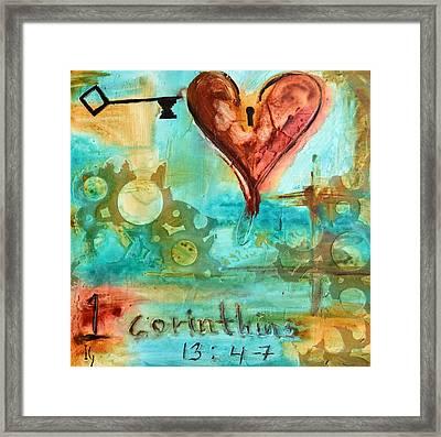 1 Corinthians 13 Framed Print by Ivan Guaderrama