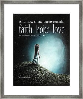 Corinthians Inspirational Bible Verses Framed Print by Shawna Erback