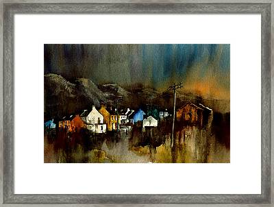 Cork 2 Allihies Village Beara Cork Framed Print by Val Byrne