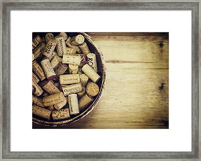 Cork Collection Framed Print by Heather Applegate