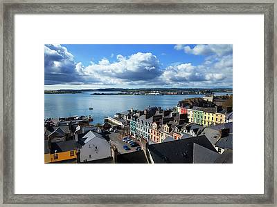 Cork Harbour And Distant Haulbowline Framed Print by Panoramic Images