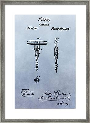 Corkscrew Patent Framed Print by Dan Sproul