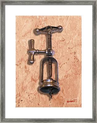 Vintage Corkscrew Painting 5 Framed Print by Jon Neidert