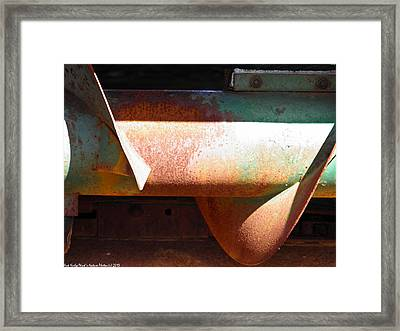 Corn Picker Auger Framed Print by Nick Kirby