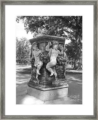 Cornell College The Old Fountain Framed Print by University Icons
