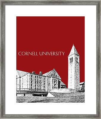 Cornell University - Dark Red Framed Print by DB Artist