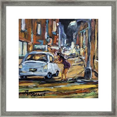 Corner Deal By Prankearts Framed Print by Richard T Pranke