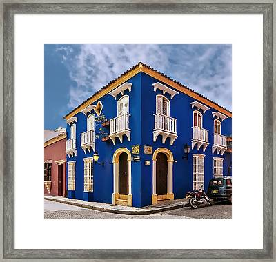 Corner House Framed Print by Maria Coulson