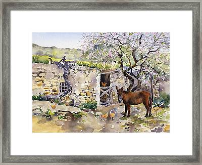 Corner Of Lucainena Framed Print by Margaret Merry