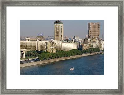 Corniche El Nil, Nile River, Cairo Framed Print by Nico Tondini