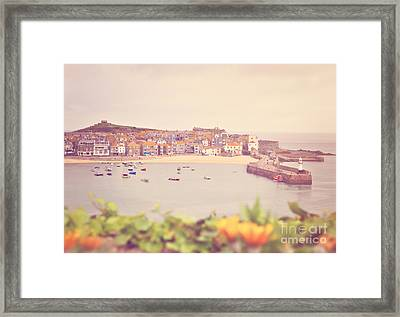 Cornish Harbour Framed Print by Lyn Randle