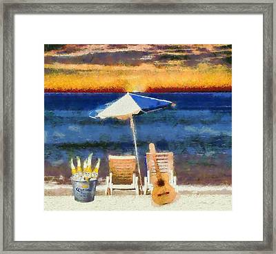 Corona Sunset Framed Print by Dan Sproul